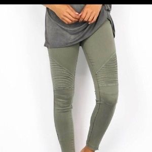 Olive green Motto Pants